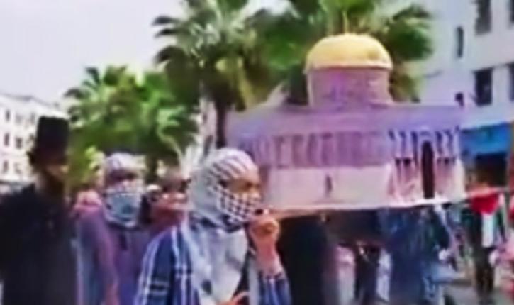 Maroc: une manifestation islamo-nazie dévoile un visage hideux