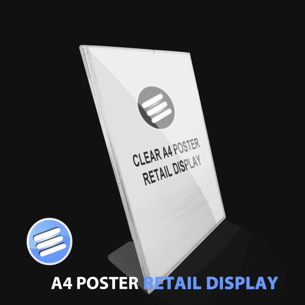 A4 COUNTER TOP POSTER/ LEAFLET/ POS CLEAR ACRYLIC SHOP ...