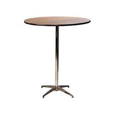 30 inch round pub cocktail table w 30 and 42 columns