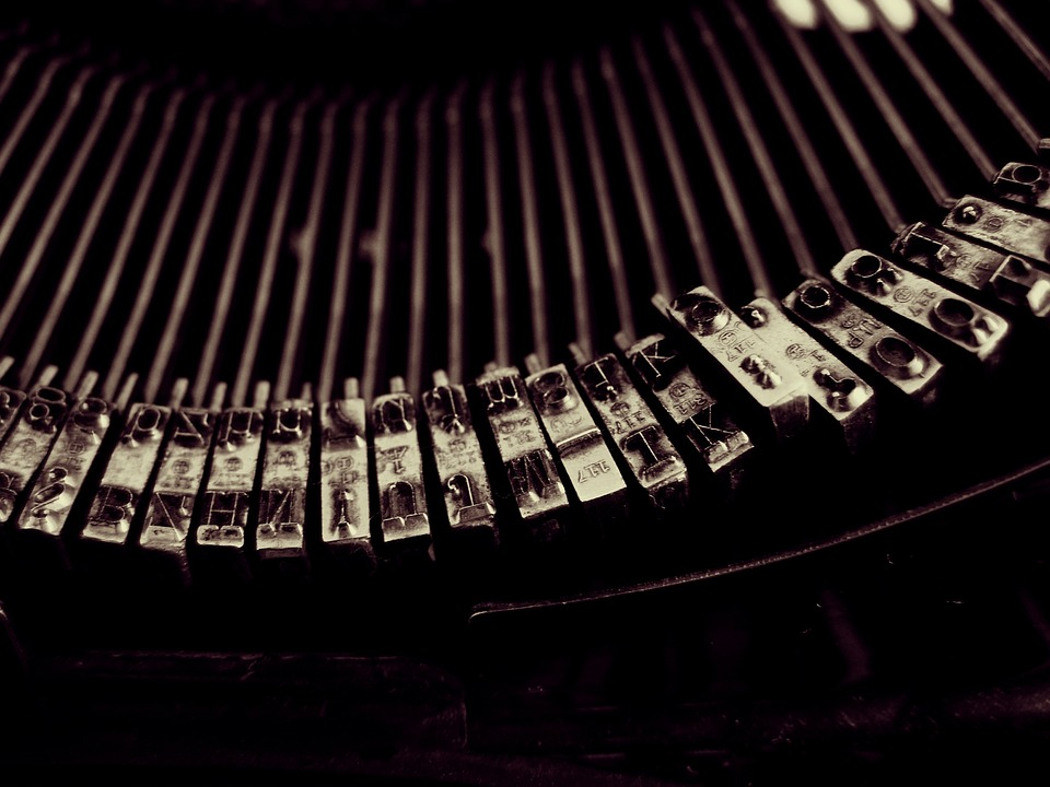 typewriter, write, vintage