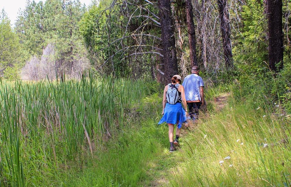 hike, hiking, couple