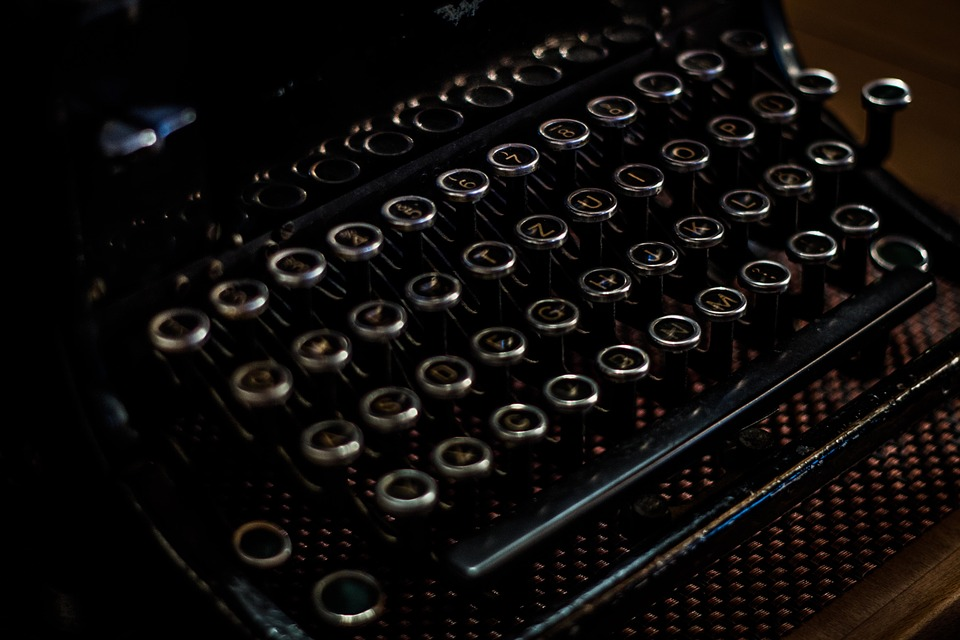 typewriter, antique, retro