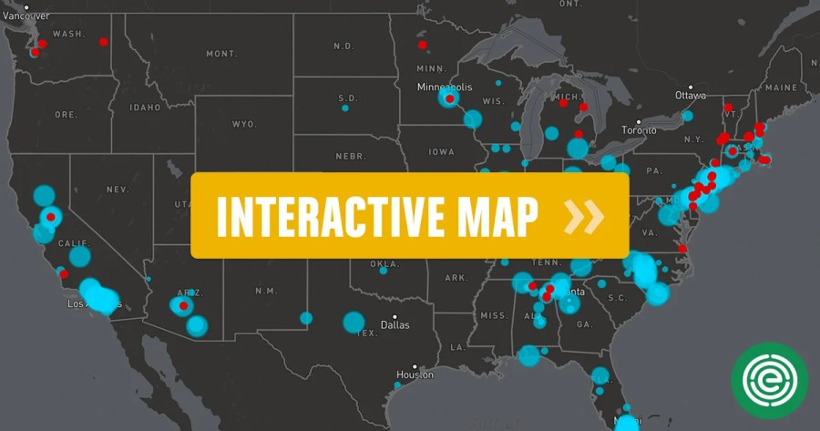 Interactive Map  Tracking Nonstick Chemical Pollution Across the U S