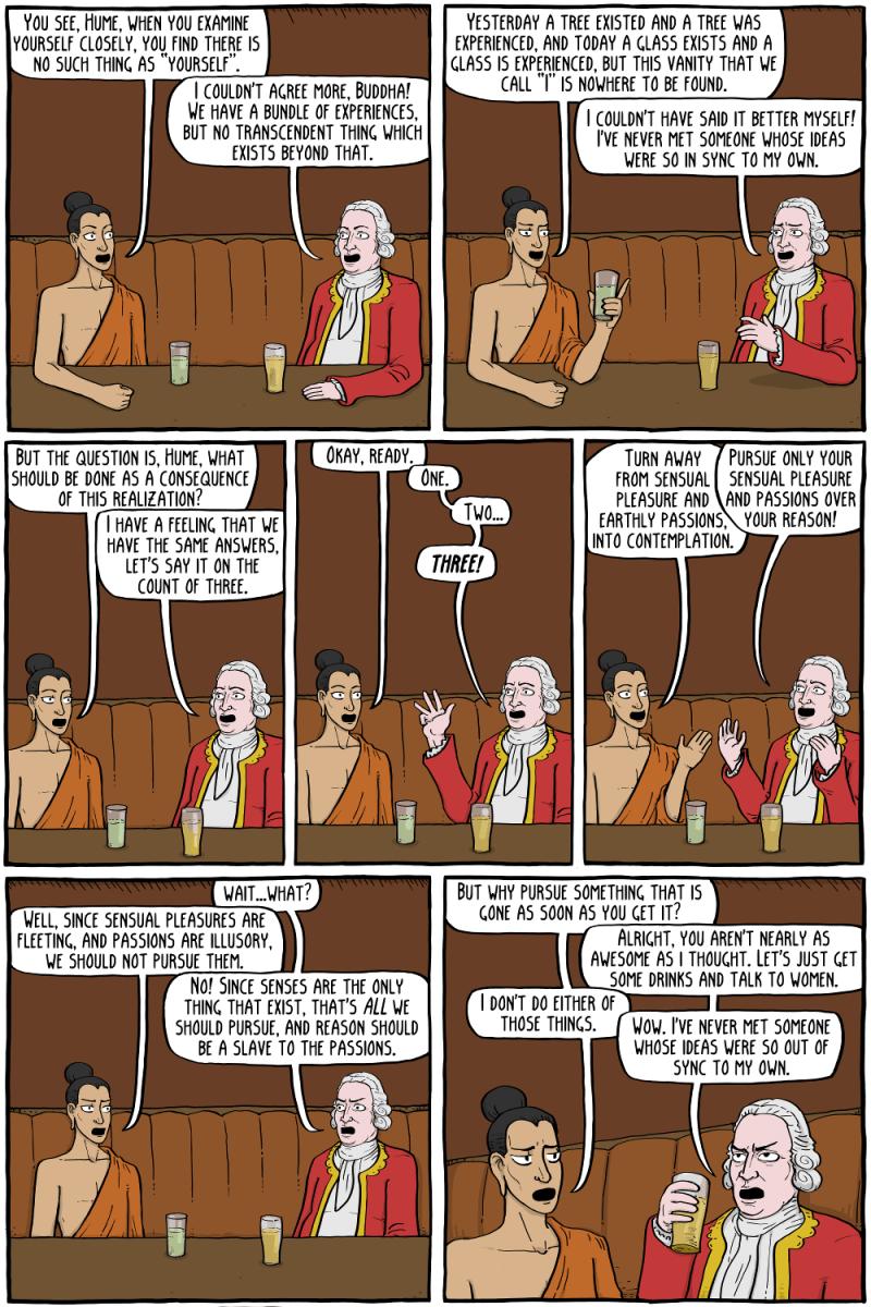 Buddha and David Hume
