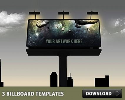3 Billboard PSD Templates Free Download