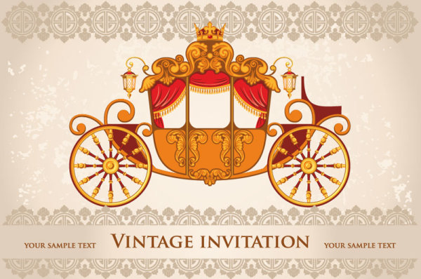 vintage invitation cards background vector 02 for free download free vector