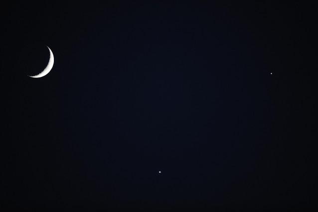Venere e Giove si incontrano nei cieli.