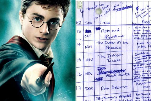 Harry Potter Gli Appunti Di JK Rowling Rivelano Com