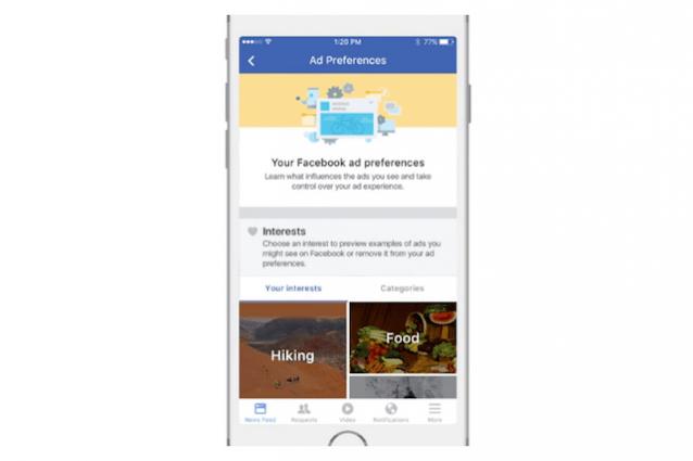 facebook pubblicità adblock