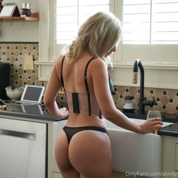 Alinity Kitchen Thong Onlyfans Set Leaked