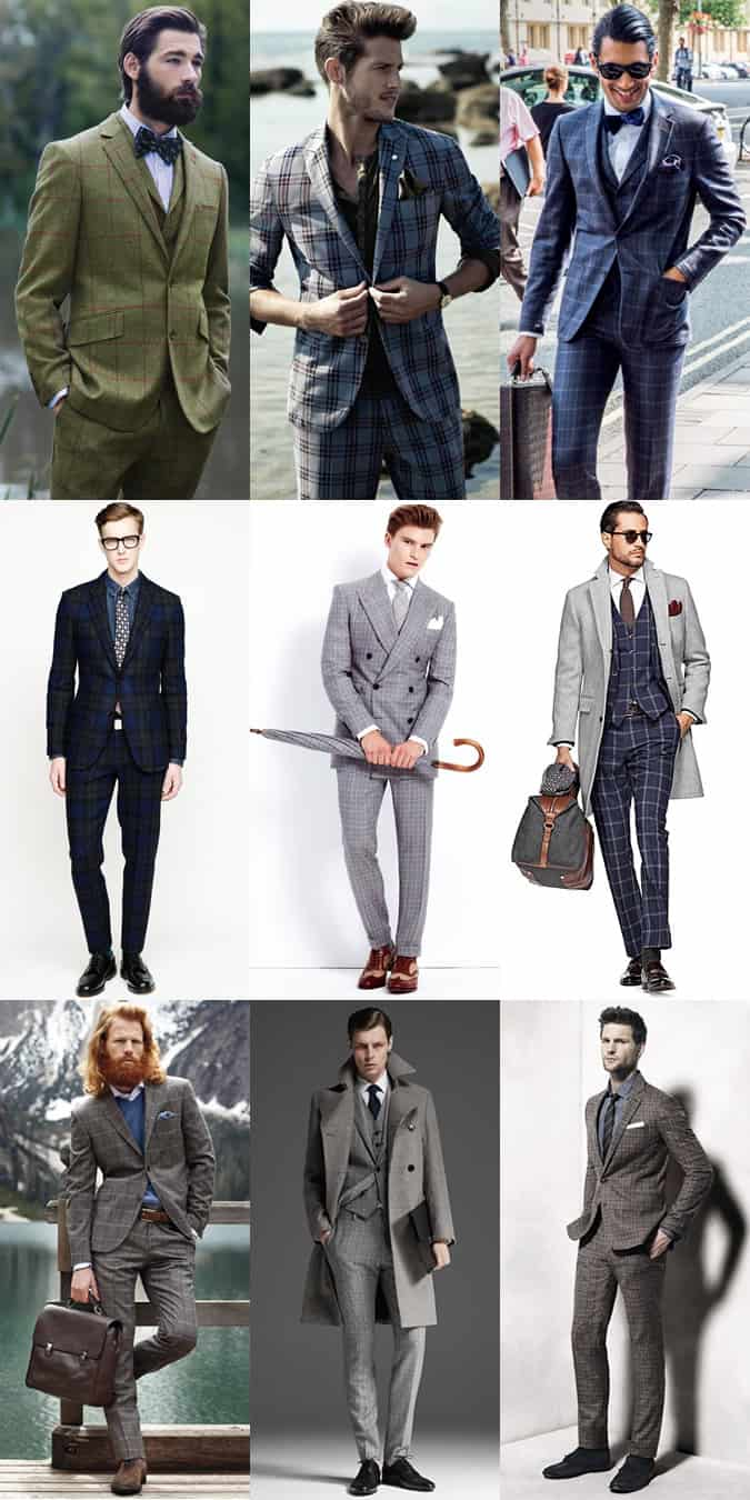 Men's Plaid Tailoring and Suiting Lookbook