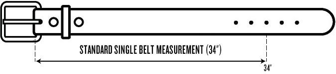 Mesure de ceinture standard pour hommes - Taille unique