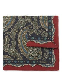 Drakes Silk-twill Pocket Square