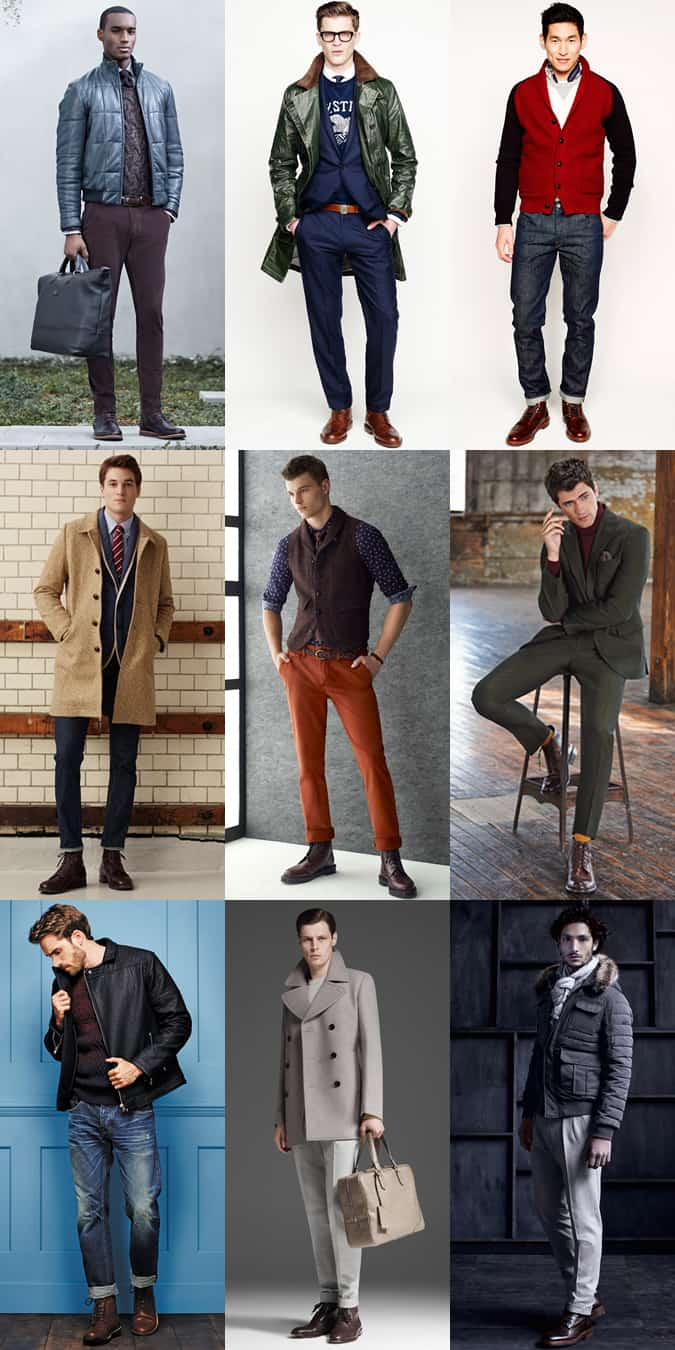 Men's Brogue Boot Outfit Inspiration Lookbook