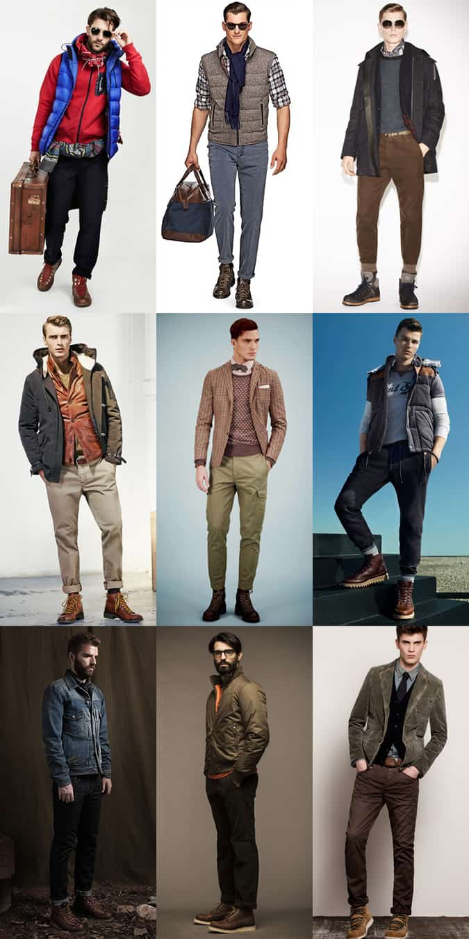 Men's Hiking Boots Outfit Inspiration Lookbook