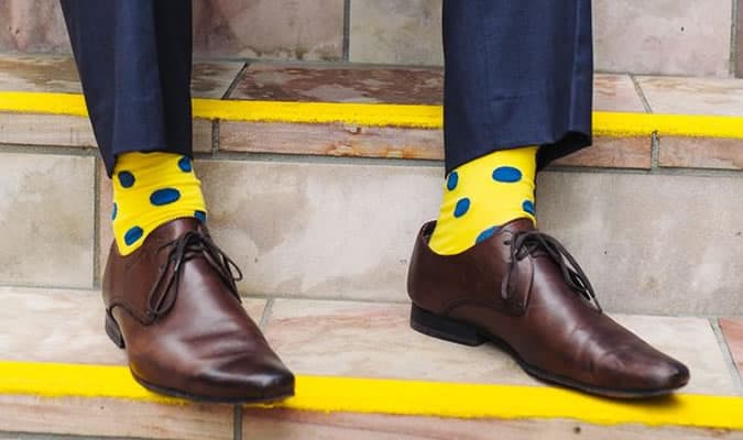Image result for Blending Multi-Coloured Socks With Your Outfit