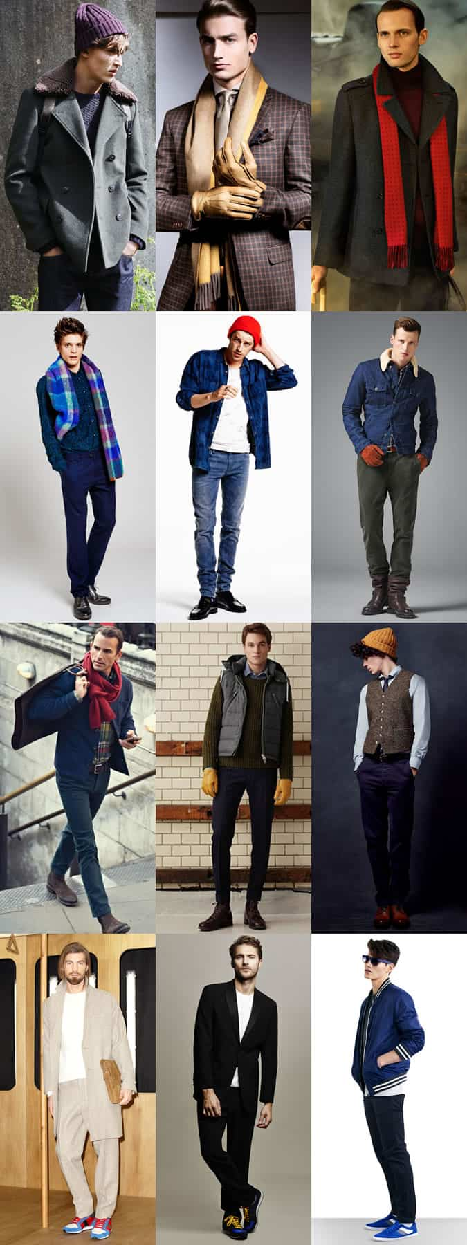 Men's Bold Coloured Accessories and Trainers - Winter Outfit Inspiration Lookbook