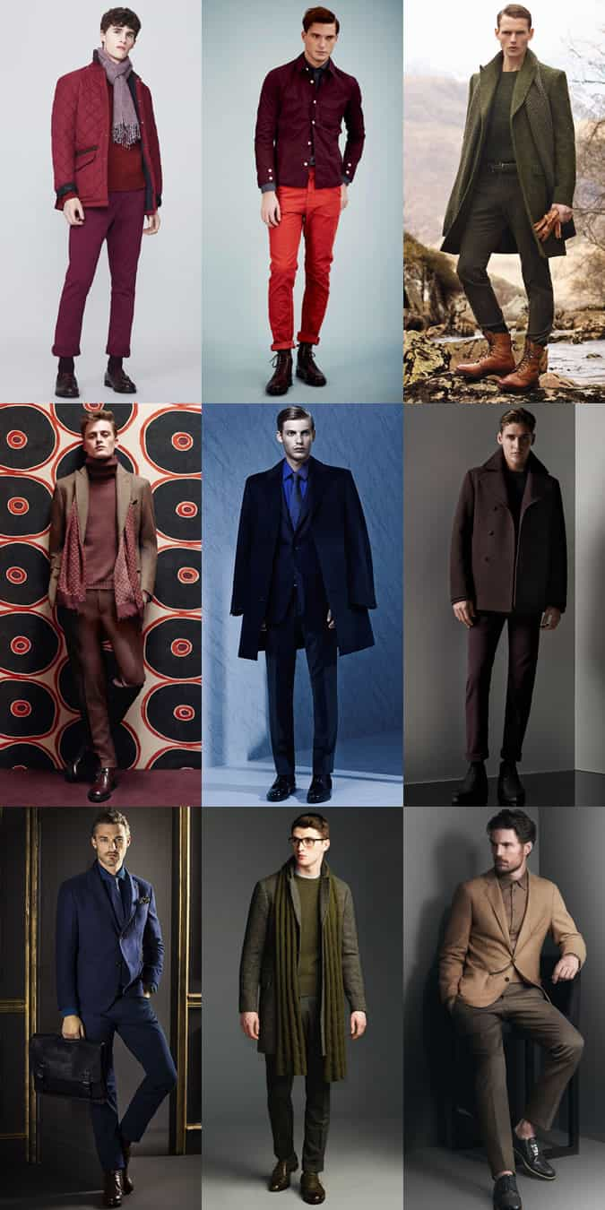 Men's Autumn/Winter Tonal Outfit Inspiration Lookbook