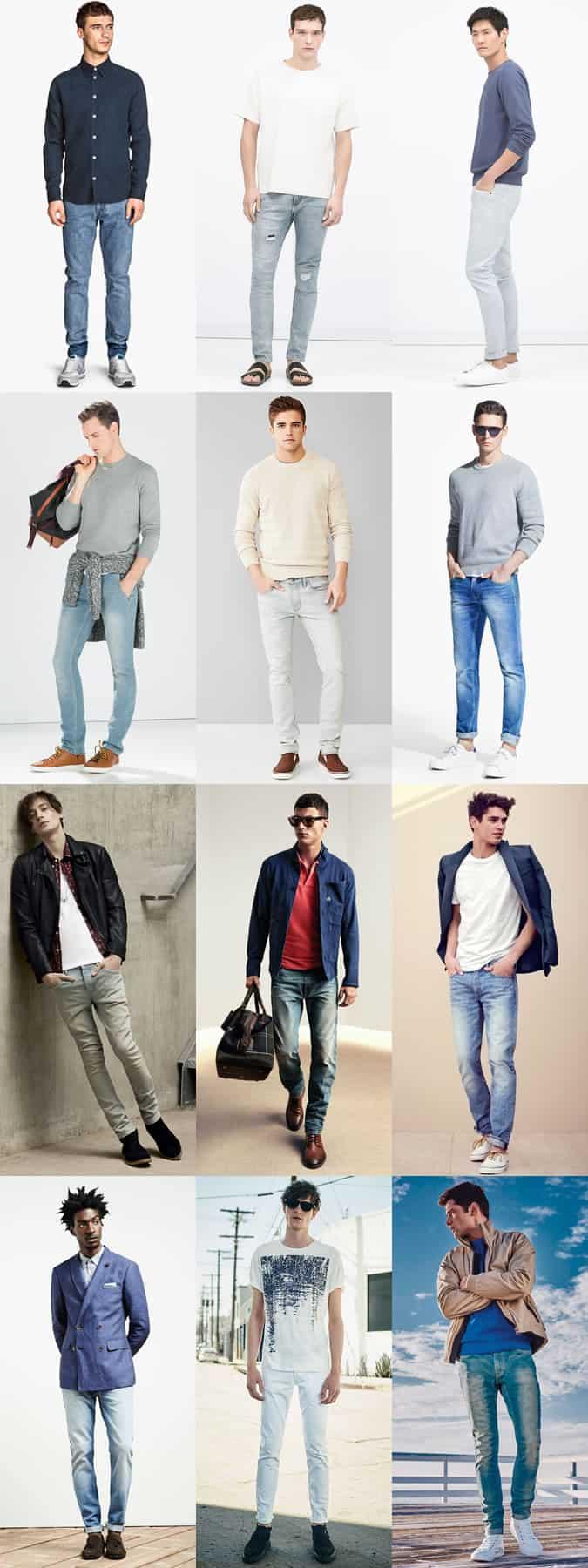 Lookbook Inspiration pour homme en jean délavé clair