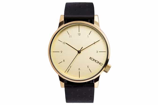 Komono Winston Black Zirconium Watch