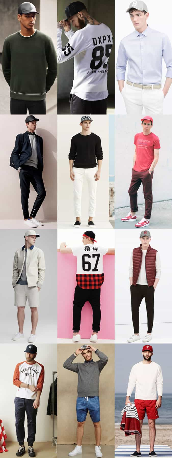 Men's Snapback/Baseball Cap Outfit Inspiration Lookbook