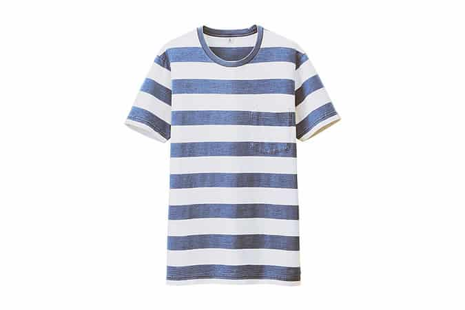 Uniqlo Indigo Striped Short Sleeve T-Shirt
