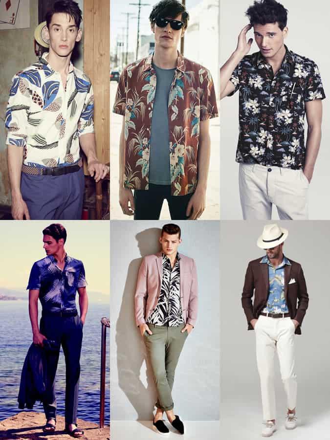 Chemise hawaïenne pour hommes