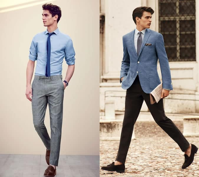 Men's Sockless Formal Outfit Inspiration Lookbook