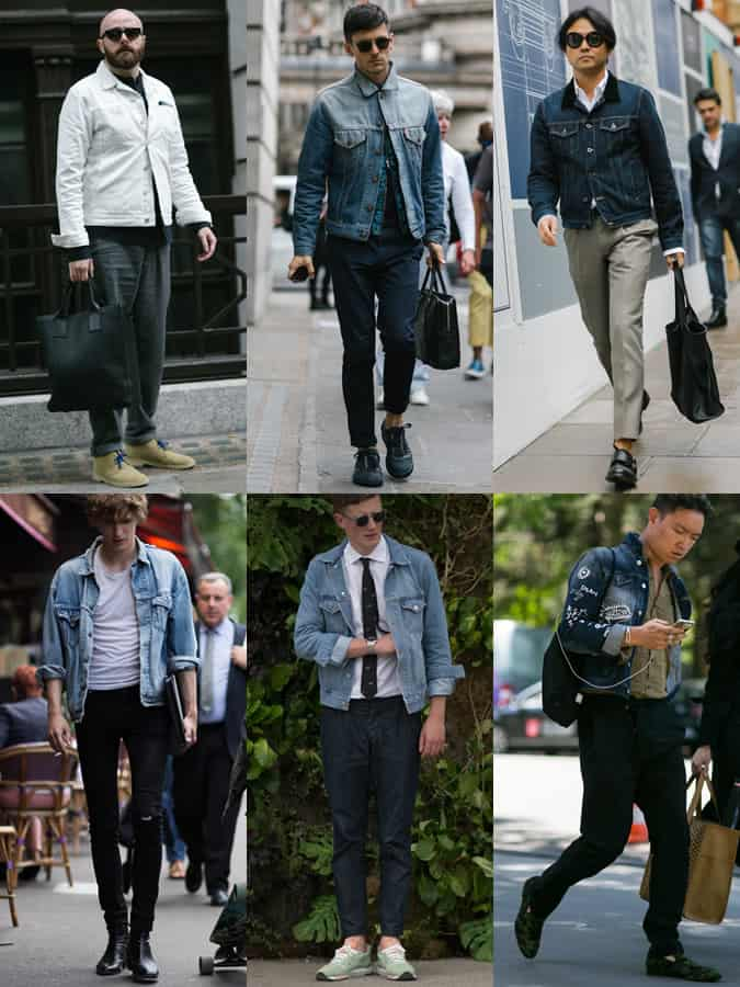 Men's SS16 Street Style Trends - Denim Jackets