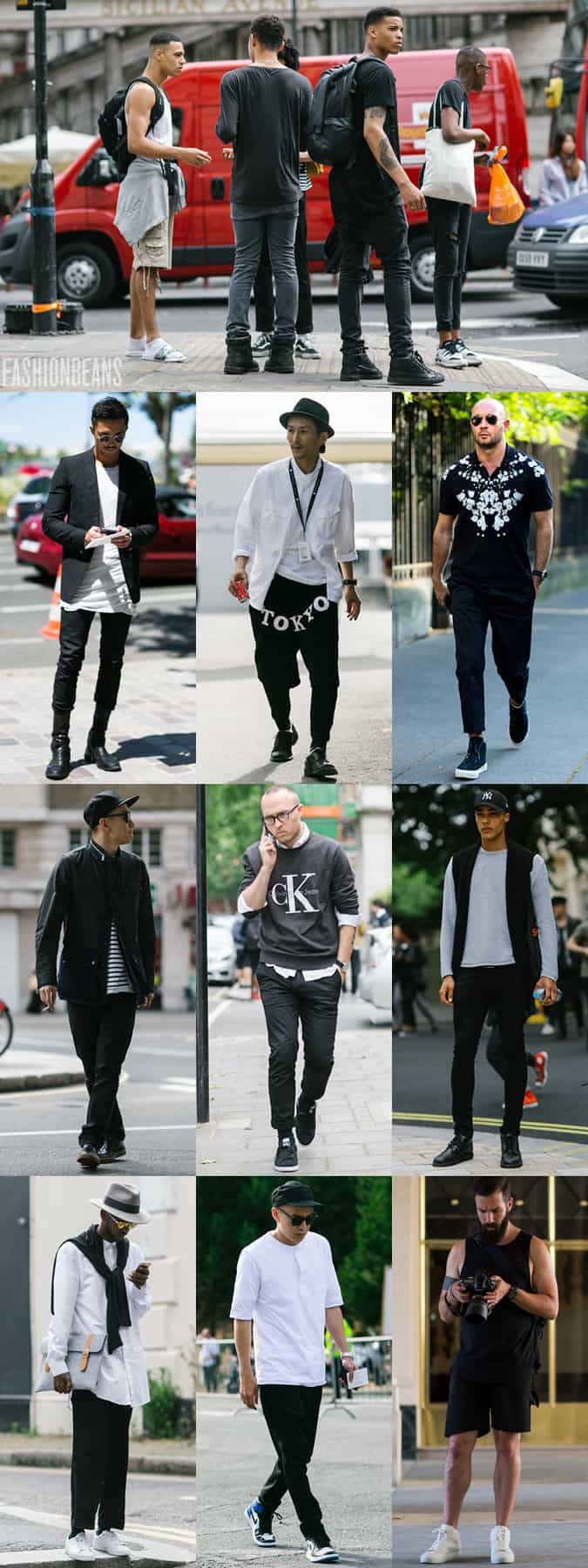 Men's SS16 Street Style Trends - Monochrome and Streetwear Looks