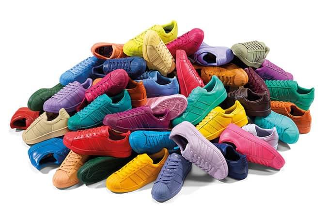 adidas x Pharrell 'Supercolour' trainer pack
