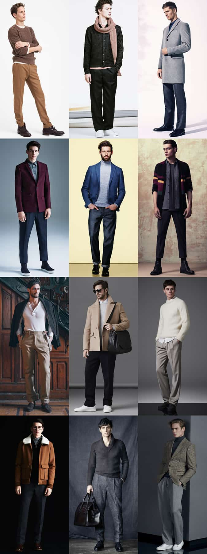 Men's Relaxed Leg Trousers Outfit Inspiration Lookbook