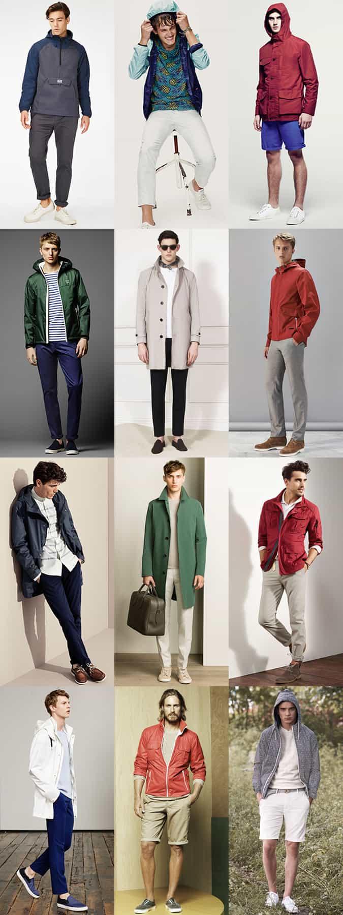 Lookbook Inspiration pour vestes de pluie d'été légères pour hommes