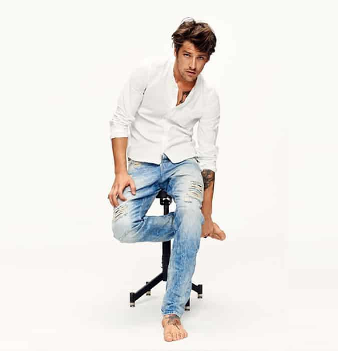 Jeans délavé léger pour homme - Inspiration d'inspiration bohème