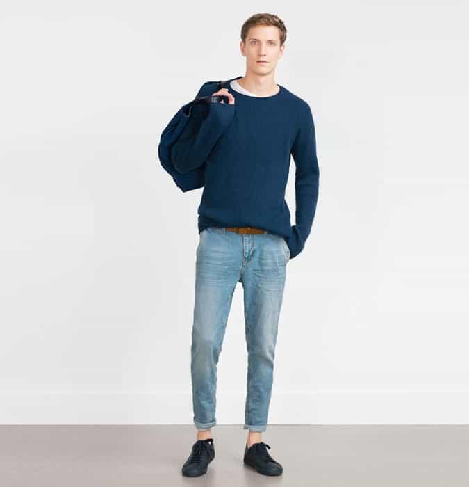 Jeans délavé pour hommes - Agrafes de garde-robe épurées Outfit Inspiration Lookbook
