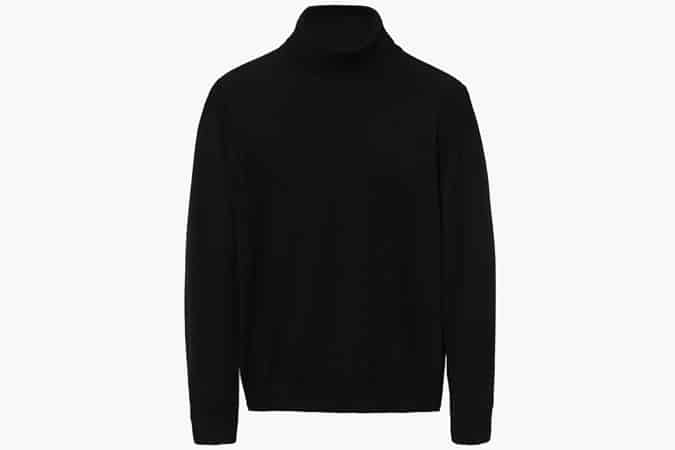 Mango Stand Collar Merino Wool Sweater