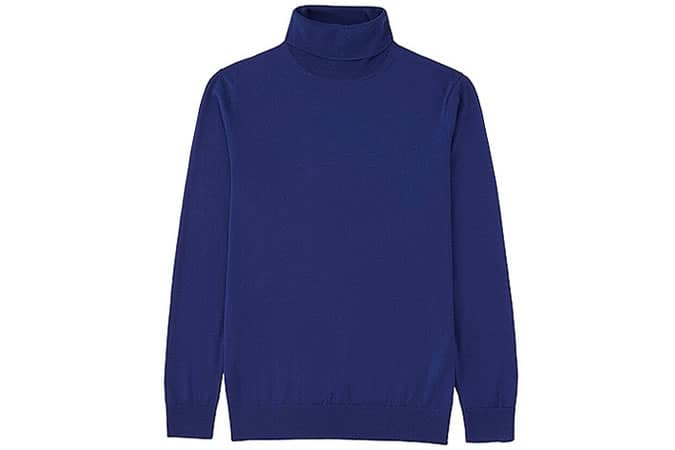 Uniqlo Extra Fine Merino Polo Neck Sweater