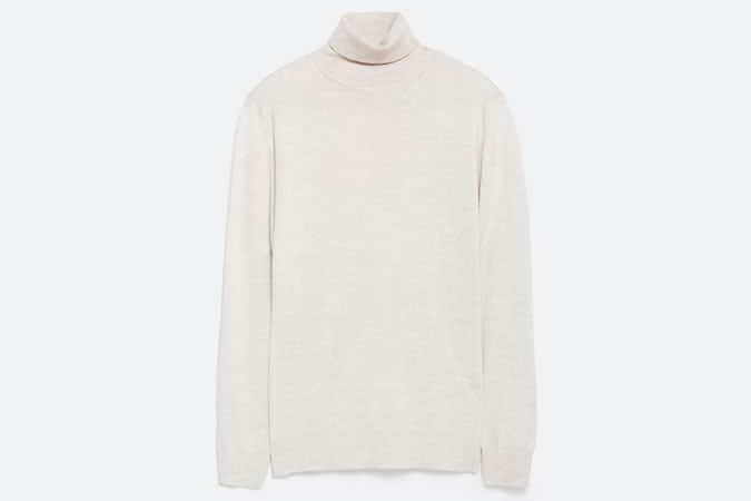 Zara Plain High Neck Sweater