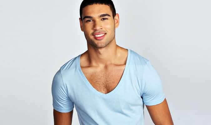 T-shirts col V profond pour hommes