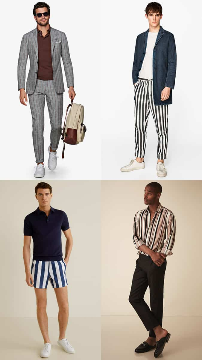 Men's Vertical Stripes Outfit Inspiration Lookbook - Dress Yourself Taller