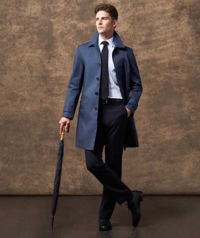 Men's Shirt & Tie With Mac/Trench Coat