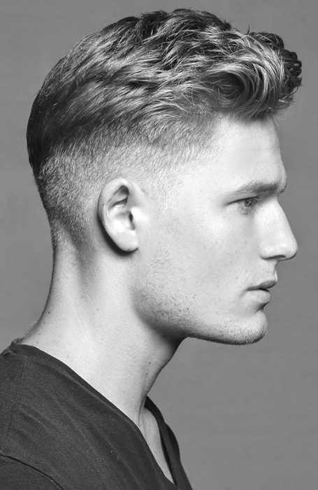Men's Low Fade With Pompadour