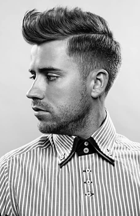 Men's Scissor Fade With Quiff