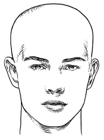 Diamond Face Shape - Men