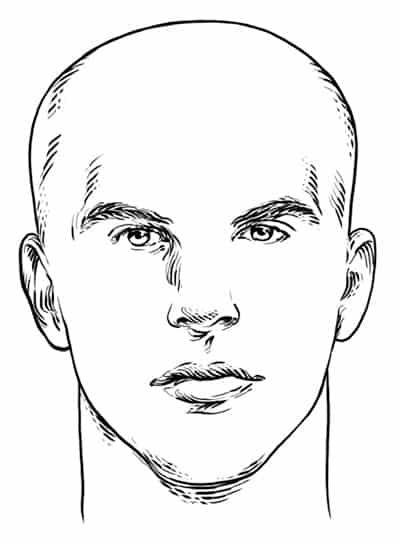 Heart Face Shape - Men