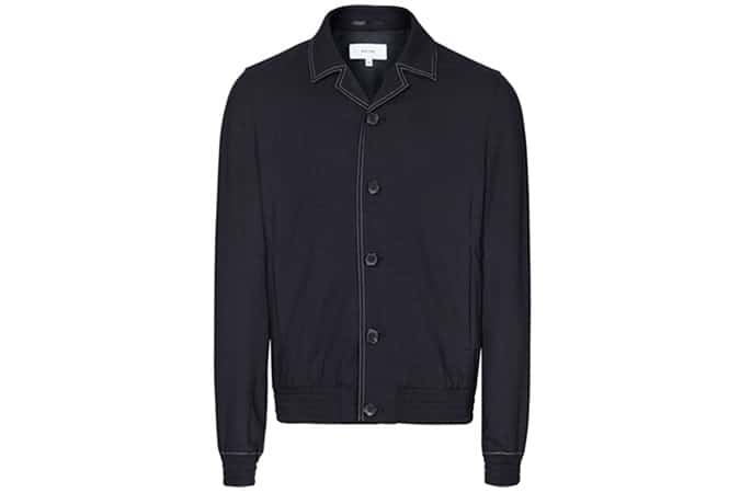 Reiss Yuri Cuban Collar Jacket