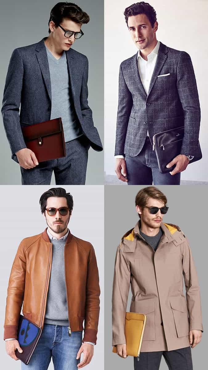 Portefeuilles et pochettes de documents pour hommes Look Inspiration Lookbook 2017 Bag Trends
