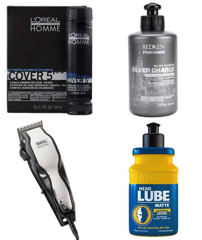 Men's Grey Hair and Bald Head Grooming Products