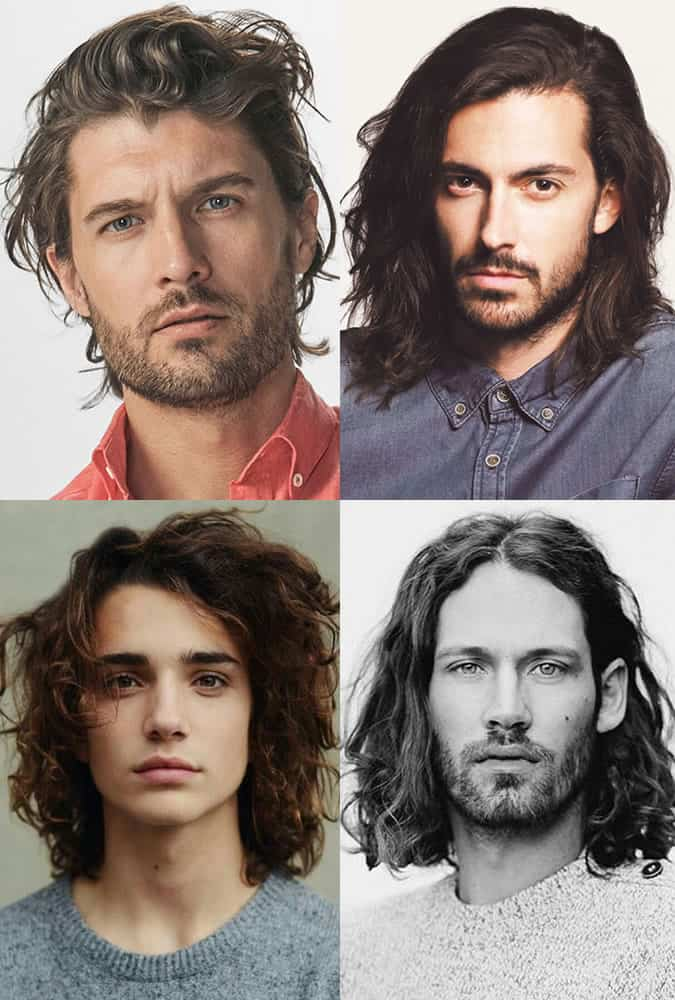 Men's Long Textured Hairstyles/Cuts