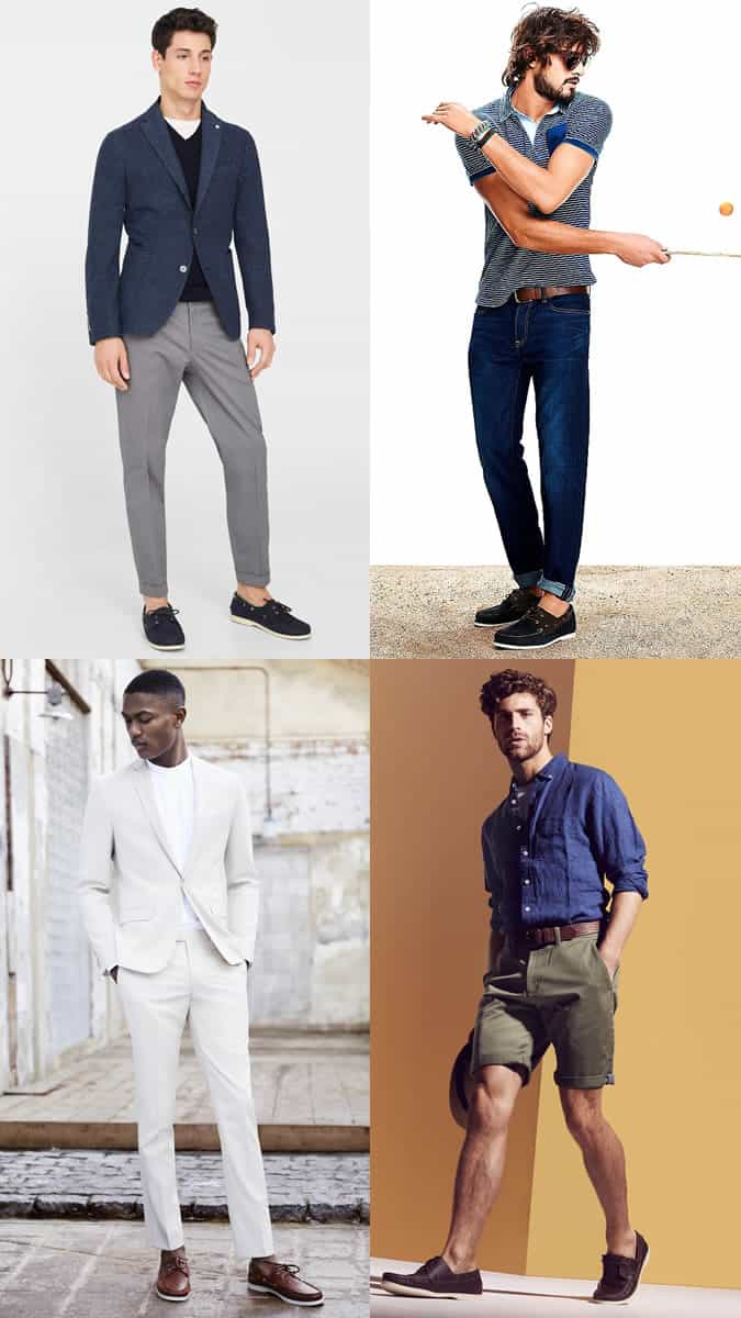 Men's Summer Boat/Deck Shoes Outfit Inspiration Lookbook